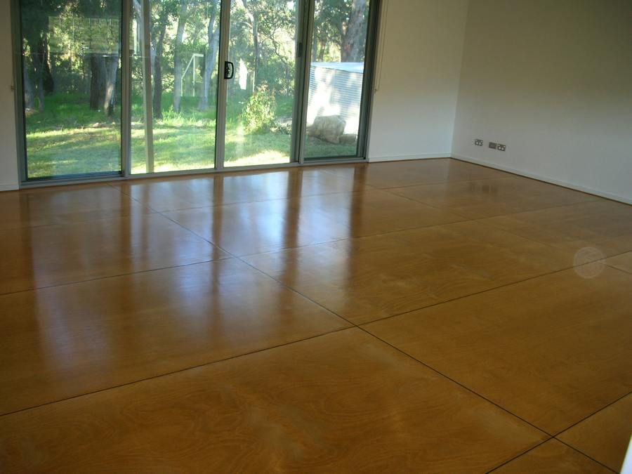 plywood floor | Polished plywood floor installation ...