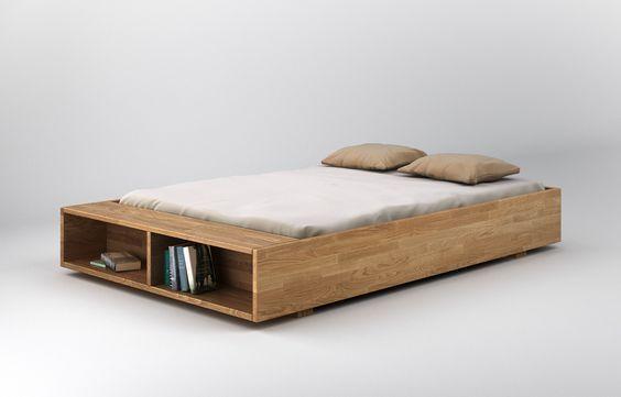 Designer bett holz  minimalistisches bett aus holz im industrial stil | Kopfteil Bett ...