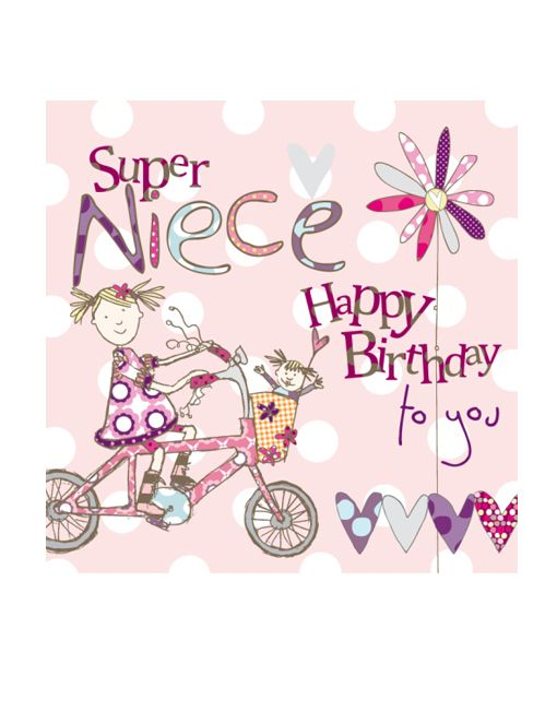 Niece Birthday Card by Molly Mae and available at – Niece Birthday Card