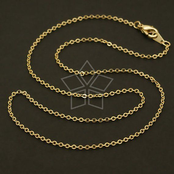 Ch 078 Gd 10 Pcs Chain Necklace With Lobster Clasp Etsy In 2021 Chain Necklace Chain Necklace