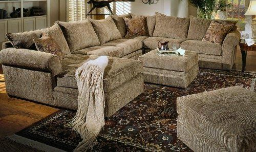 Image Detail for - Interior Furniture, Beige Chenille Fabric ...