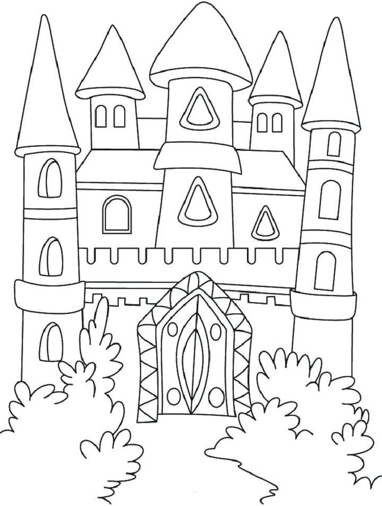 Lego Castle Coloring Pages Elementary 4 Castle Coloring Page