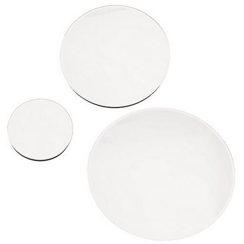 Round Mirrored Wedding Table Centre Plate 30cm, 20cm U0026 12cm Options