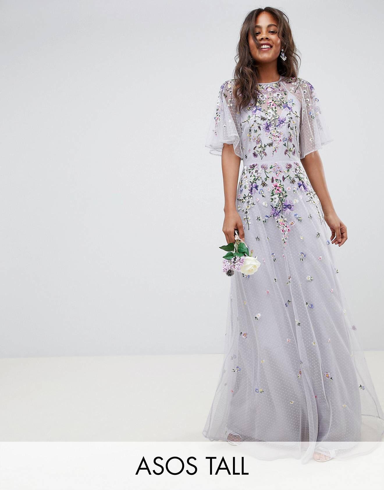 520a0493e0c Asos Tall Pleated Dobby And Lace Top Long Sleeve Maxi Dress | Saddha