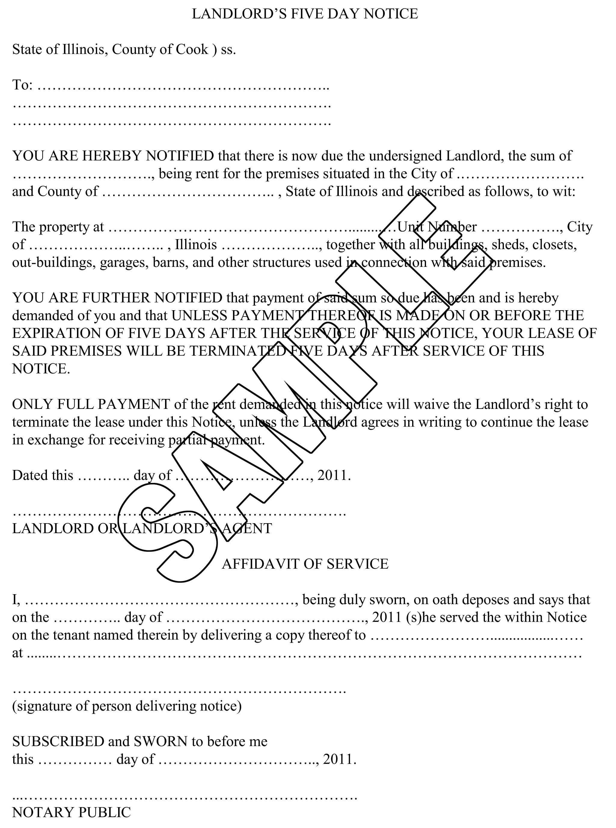 free printable late rent notice