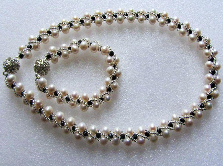 Libre-rebordear-tutorial-collar-perla - patrón-1 | largo de collares ...