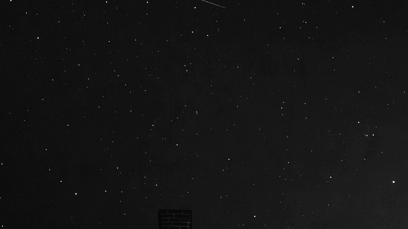 nd45starnightskysummerdarkbw Stars at night, Night