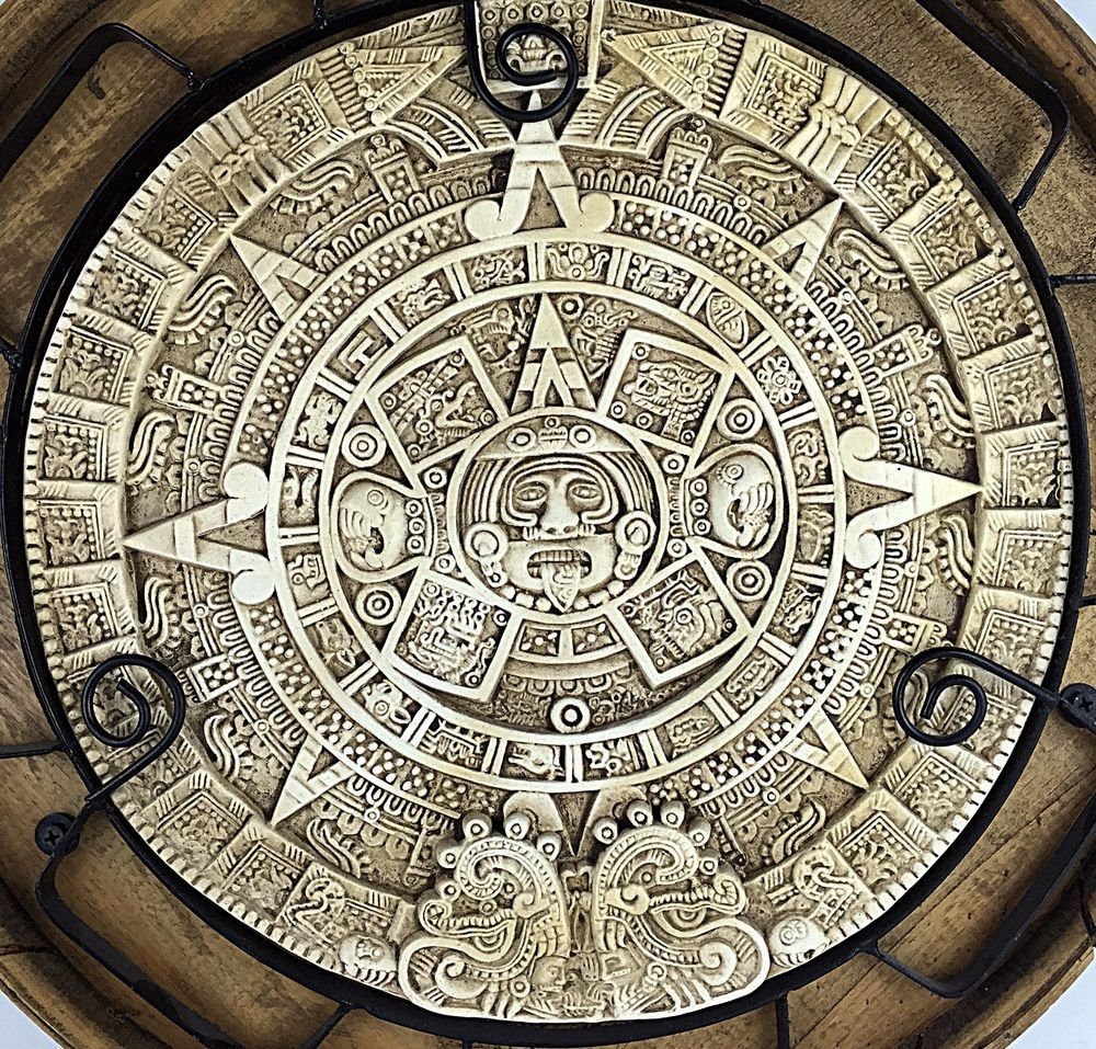 Large Mayan Aztec Calendar Mexican Wall Hanging Art Home Decor