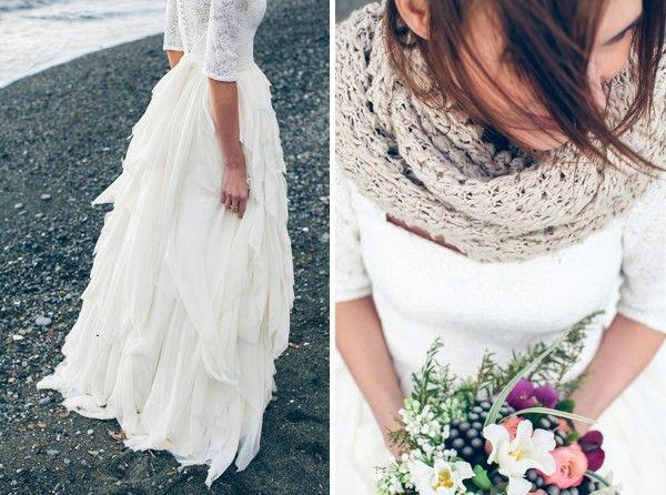Winter Bridal Fashion via Belle and Chic. #laylagrayce #winter #fashion