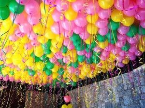 helium balloon decorations Firemans ball Pinterest Helium