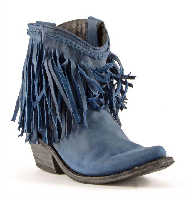 Russian Blue Liberty Black Boots | Blu russo, Frange e Stivali da ...