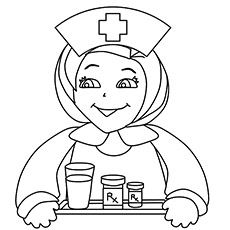 Free Nurse Coloring Printable for kids Are you my nurse Pinterest