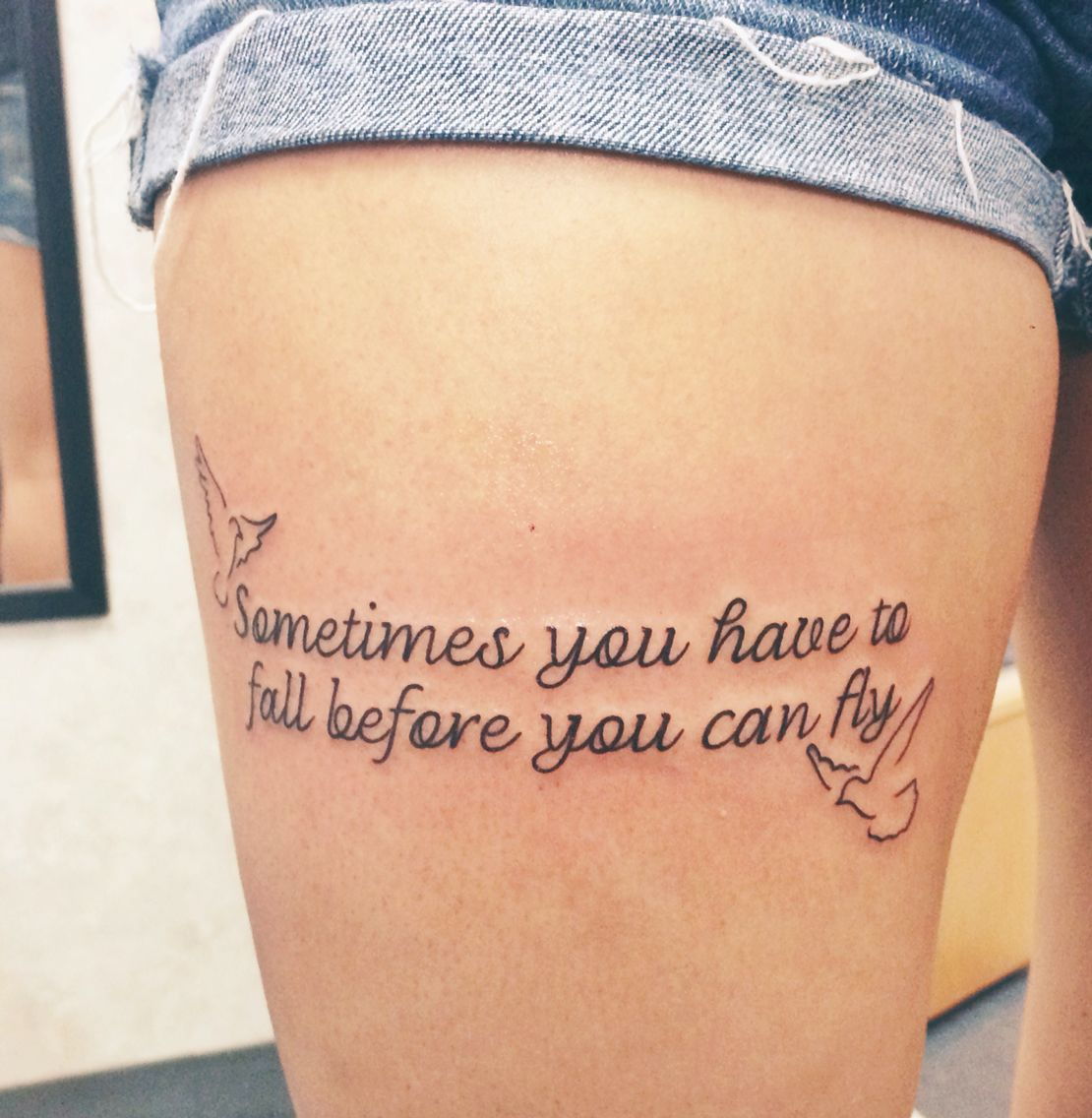 sometimes you have to fall before you can fly tattoo