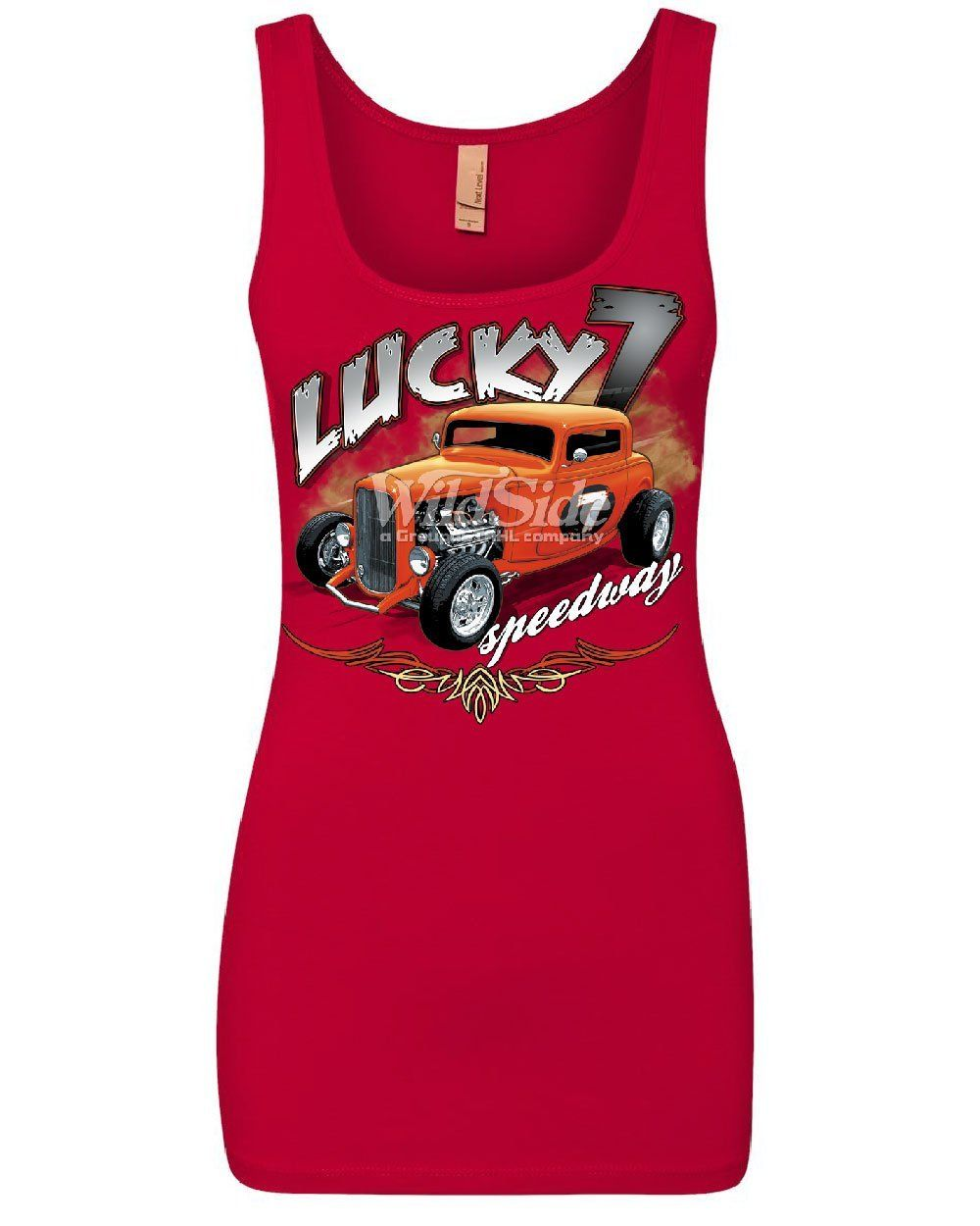 Lucky 7 Hot Rod Sweatshirt Speedway American Classic Cars Route 66 Sweater