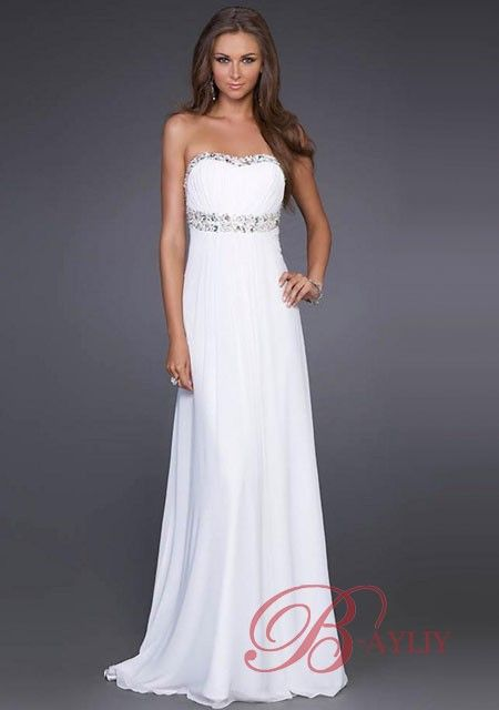 Long White Ball Gowns