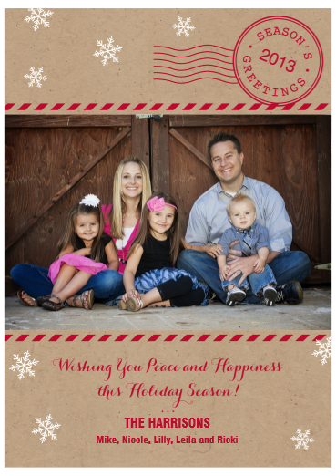 costco now prints on cardstock front and back yeah - Costco Holiday Cards