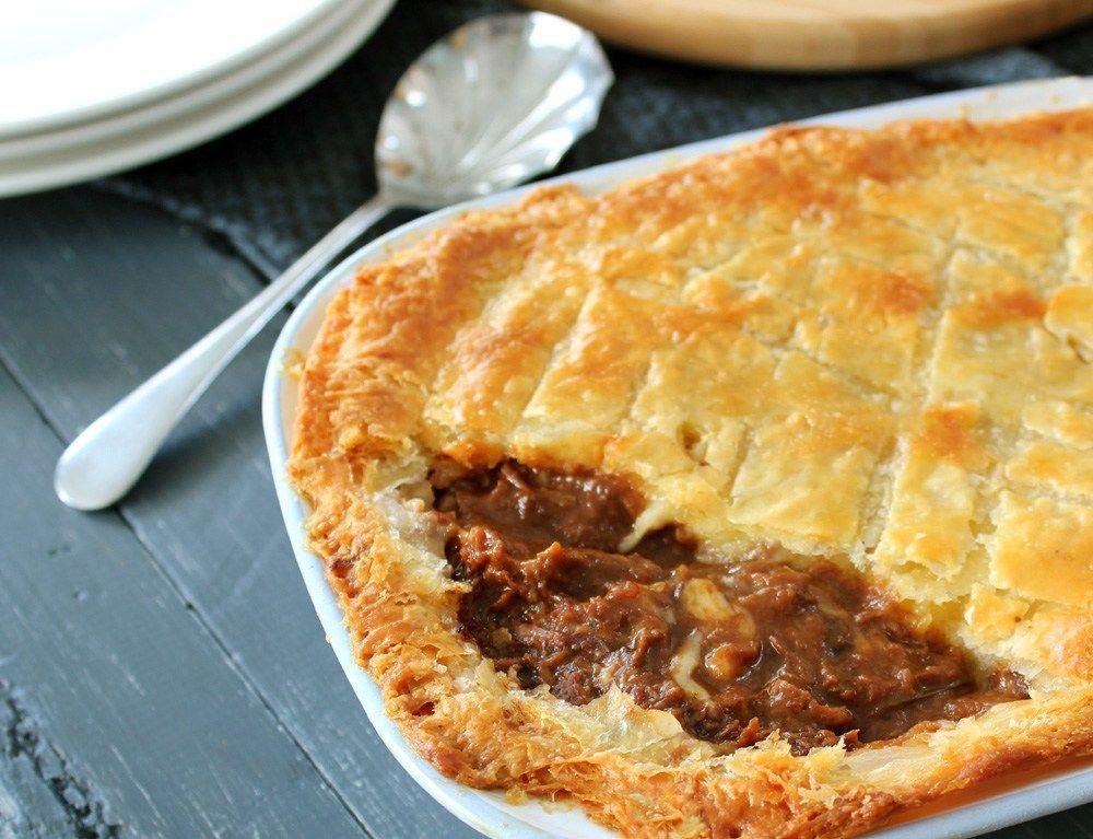 Steak, Guinness & Cheese Pie   Cheese pies, Dinner pies
