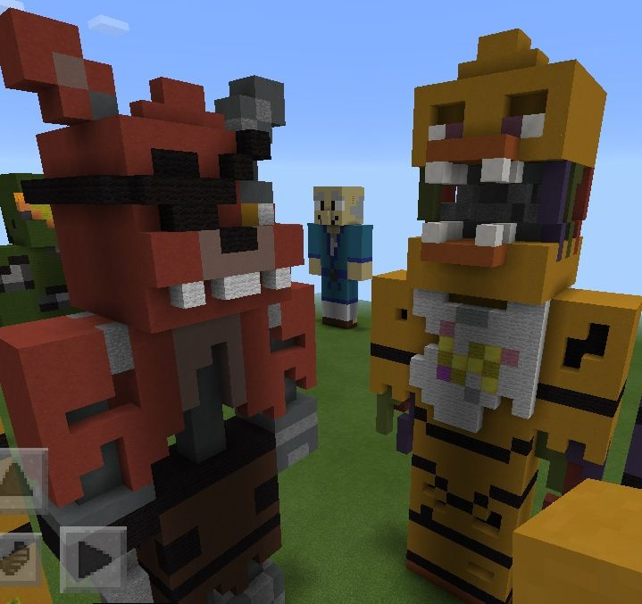 Five nights at Freddy's 2 chica and foxy | Minecraft