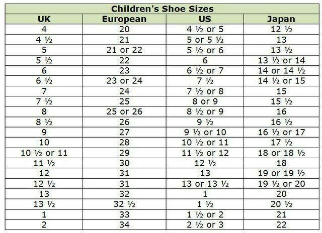 euro size 30 children's shoes