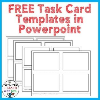 free task card templates in powerpoint task cards for. Black Bedroom Furniture Sets. Home Design Ideas