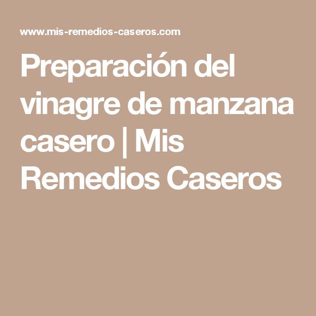 Preparación del vinagre de manzana casero | Mis Remedios Caseros