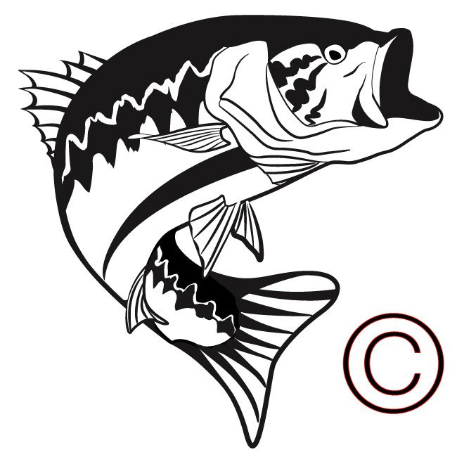 big mouth bass large mouth bass vinyl decals flower dude rh pinterest ca bass clip art free bass clip art black and white