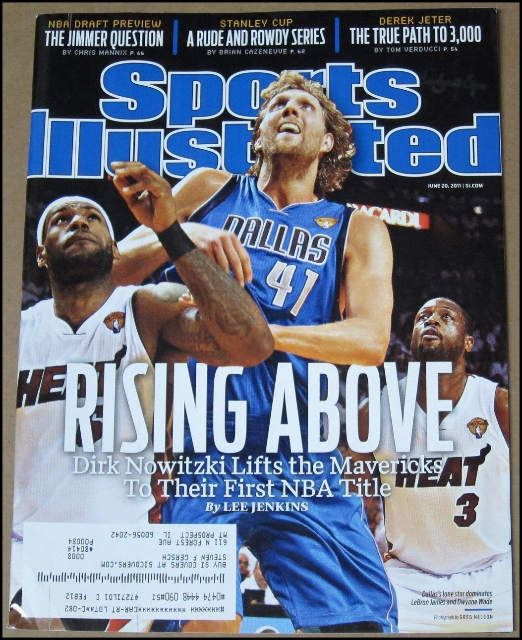 6 20 2011 sports illustrated dirk nowitzki dallas mavericks win nba rh pinterest com