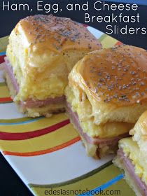Edesia's Notebook: SRC: Ham, Egg, and Cheese Breakfast Sliders #breakfastslidershawaiianrolls
