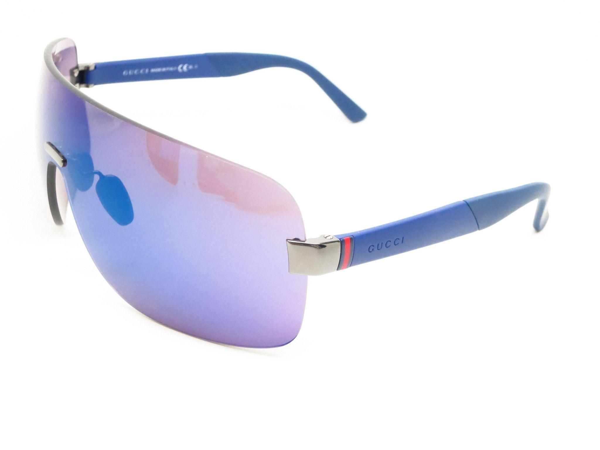 aa8023900d431 Gucci GG 2257 S JOMXT Ruthenium Blue Sunglasses