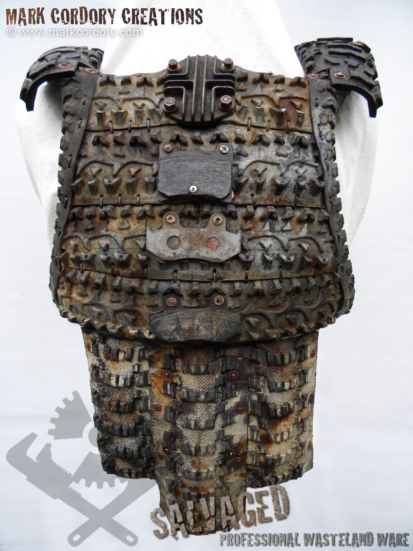 Post Apocalyptic Tyre Armour Front View - Mad Max