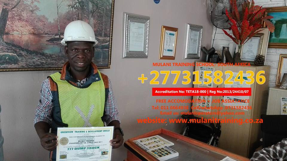+27731582436 MUlANI OPERATORS TRAINING SCHOOL (PTY) LTD