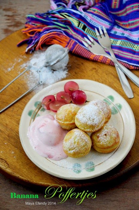 Pawon Ayu Poffertjes Pisang Banana Dutch Mini Pancake Puffs Makanan Resep Pisang