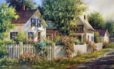 Summer Cottages Fine Art Giclee Photographic Print At Artist Rising
