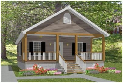 The laura cottage free plans from this Prefab shotgun house