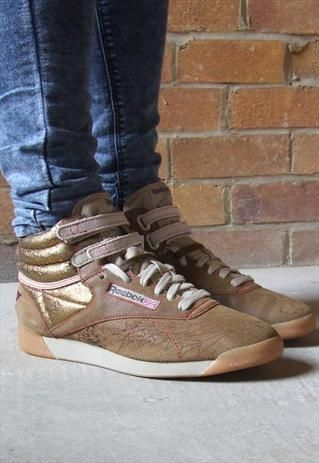 47af5db0 Reebok Freestyle Hi Road Trip Brown Suede Hi Top Trainers | Shoes ...