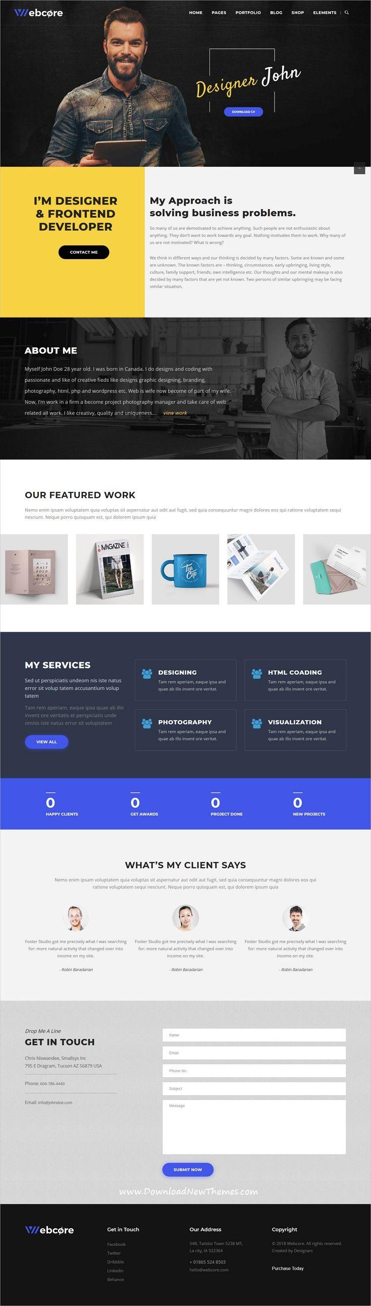 Webcore Portfolio And Agency Wordpress Theme Business Web Design Web Design Agency Web Design Tips