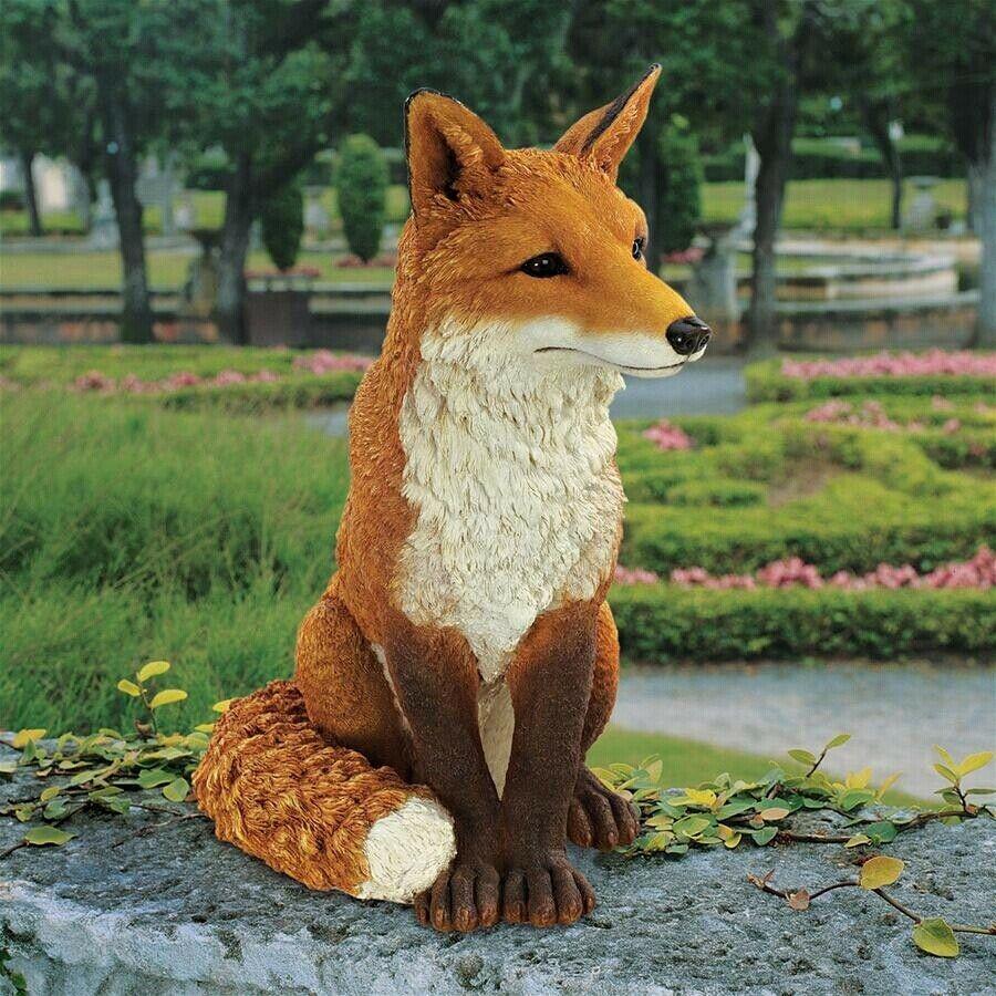 Fox Garden Statue Yard Art Patio Decorations Home Decor ...