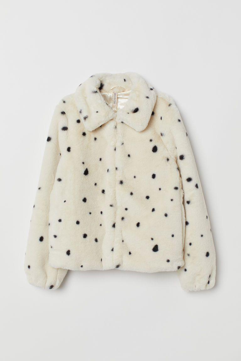 Jas van imitatiebont in 2019 | White faux fur jacket, Fur