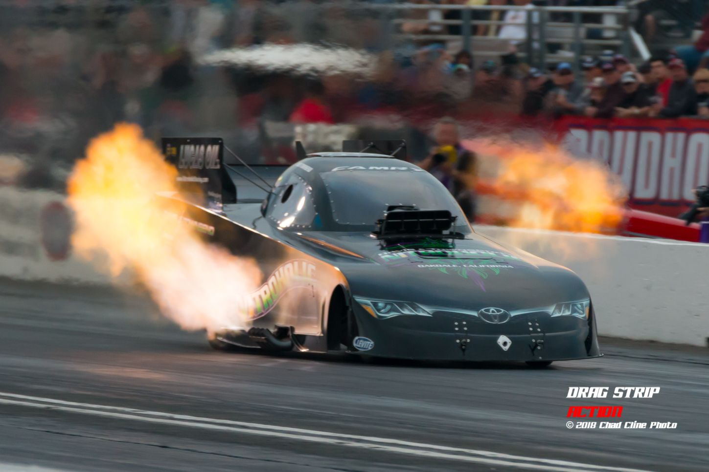 Nitro, Funny car, nhra, drag racing, flames, Toyota, Canon | Drag ...