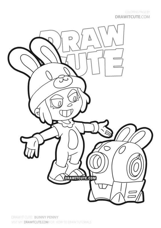how to draw bunny penny  brawl stars  draw it cute in