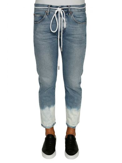 OFF-WHITE Off-white Crop Bottom Bleach Jeans. #off-white #cloth ...