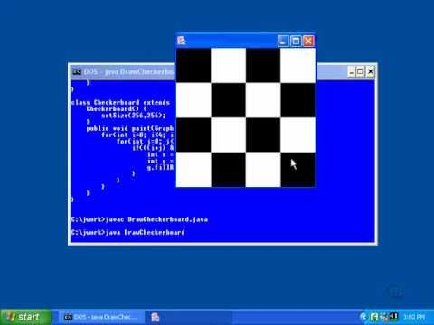 Java Programming:Lesson36-Two Checkerboard and Shading Solutions in