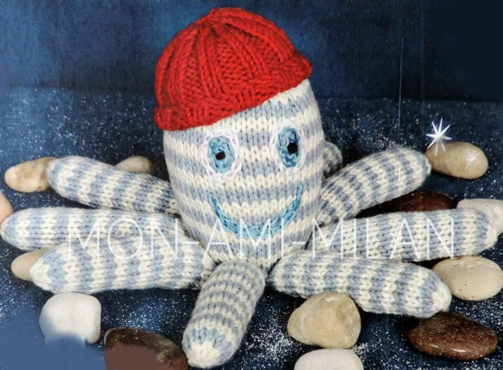 Knitting Pattern CUTE OCTOPUS SOFT CUDDLY TOY Babies Baby Children ...