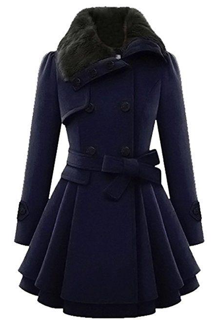 Mantel Swing Coat Bestfort Lang Winter Trenchcoat Damen dxrhsQCt