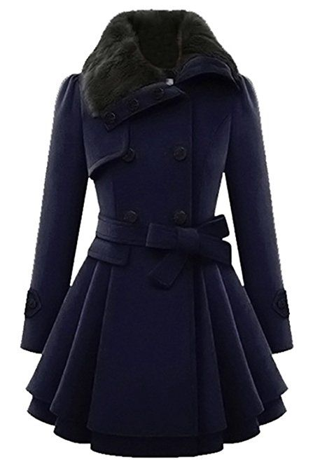 Bestfort Mantel Damen Wintermantel Elegant Trenchcoat Warm NPXZ0wOn8k