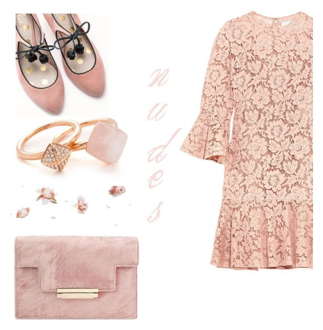"""""""little lace dress"""" by keepitrealforme ❤ liked on Polyvore featuring Valentino, Boden and Michael Kors"""