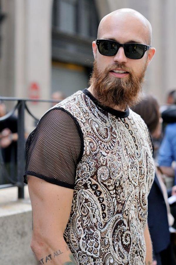 Thick Stubble Beard For Bald Men