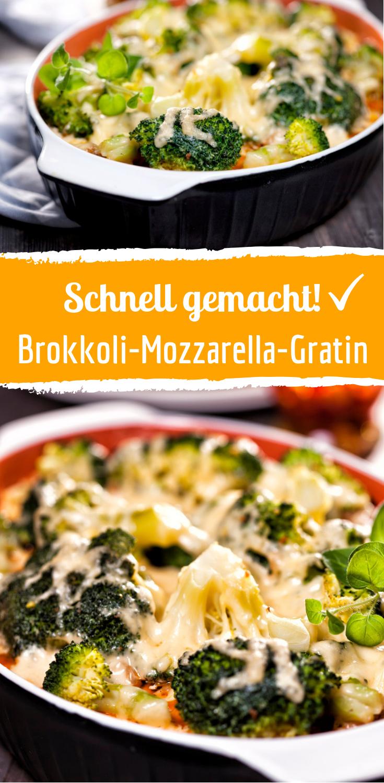 Dieser Brokkoli-Mozzarella-Gratin ist super schnell gemacht