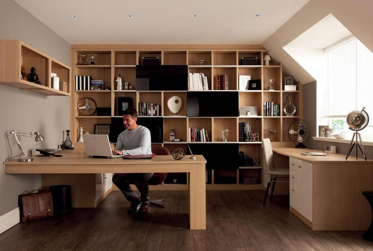 10 Home Office Ideas That Will Make You Want To Work All Day Office Furniture Modern Office Furniture Layout Fitted Office Furniture