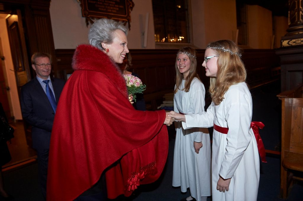Wednesday, December 10, 2014 attended HRH Princess Benedikte Copenhagen Girls' Choir Christmas concert at Holy Spirit Church, Copenhagen.